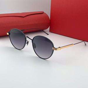 0009S New Homens e Mulheres Round Sunglasses Metal Frame Aviator Popular Retro UV400 lentes de qualidade superior Protecção dos olhos Gift Box Estilo clássico