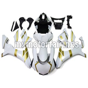 Fairings for 2015 Yamaha YZF R1 2016 2017 2018 2019 Bodywork YZF1000 15 16 17 18 19 Panels - White with Gold Decals