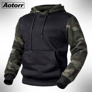 Yeşil Ordu Men Kamuflaj Kapüşonlular Sonbahar Kış Kapşonlu Sweatshirt Erkek Kamuflaj Hoody Hip Hop Streetwear En 4XL