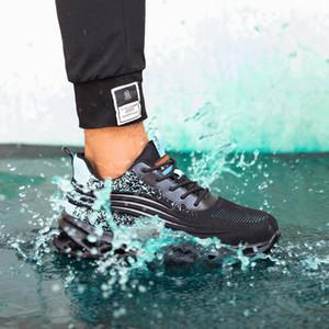 Sıcak Nefes Güvenlik Ayakkabı Rahat Moda Düşük Üst Koruyucu Ayakkabı Anti-Smashing Anti-piercing Çelik Toe Kap Çalışma Ayakkabı Toptan