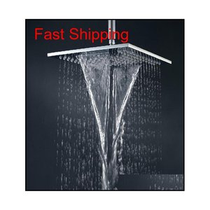 Double Waterfall Shower Head With Dual Rain And Waterfall Functions Shower Solid Brass Chrom qylIxd bde_luck