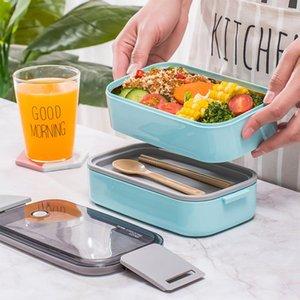 1600ML Прочный Герметичная все-в-одном Stackable японски Bento Lunch Box Контейнер Посудомоечная машина Морозильник Сейф