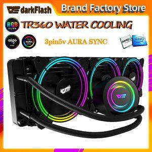 Aigo water cooling radiator TDP 350W desktop computer pc rgb fan Integrated CPU water Cooler heat sink LGA 2011 1155 AM3 AM4 AMD