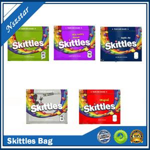 Skittles 400mg Mylar Çanta Boş Ekşi Fermuar Çanta Ambalaj Kılıfı Yemekleri Paketi Gummies Depolama Perakende DHL Ücretsiz