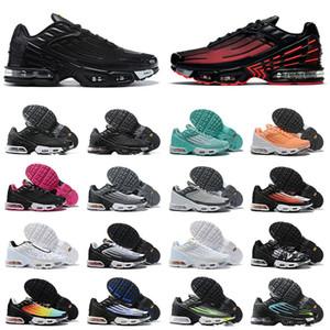신발 max airmax tn plus 3 tuned 뜨거운 판매 클래식 남성 여성 운동화 tn 3 트리플 블랙 화이트 레이저 블루 그레이 남성 스포츠 운동화 조깅 트레이너