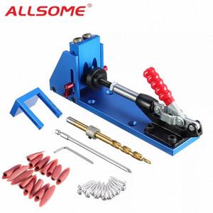 Allsome Wood Tool Tool Herramienta de bolsillo Jig con abrazadera de palanca y Destornillador PH1 Bit de 9.5 mm para carpintero Hardware QR3F #