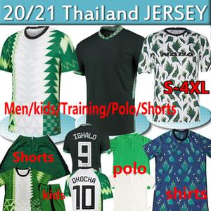 4XL 2020 Nigelia Jersey de football 20 21 Maillot de pied Okechukwu Ighalo Okocha Ahmed Musa Ndidi Mikel Iheanacho Hommes Kit Kit de football