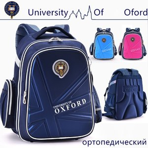 New University Of Oxford school bag Reflective Spinal care weight lighten Orthopedic waterproof backpack Class 2-6 200929