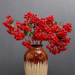 "Fake Long Stem Acacia (3 stems piece) 31.5"" Length Simulation Fortune Fruits for Wedding Home Showcase Decorative Artificial Plants"