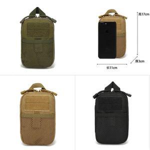 На открытом воздухе спортивный карманный карман многофункциональный EDC гаджеты мужчин студент мобильный телефон набор висит сумка сплошной цвет маленькие квадратные сумки мода 6 7ak M2