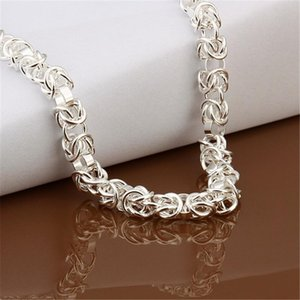 Wholesale High Quality Men Women Wedding Party Silver Color Fine Charm To Chain Necklace Fashion Jewelry N060 H sqcwMk