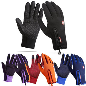 Mulheres Luvas de Inverno Touch Screen Windproof Fur Exército Ladies Tactical Outdoor Sports Vento Stopper Hot Sale Full-dedo Mittens