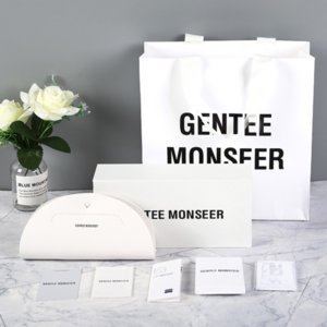 Bc1o0 GM Sonne Lederkoffer Sonnegläser 2020 neue Lederhalbmond konkav konvex Sonnenbrille Box High-End-weiß GM-Box