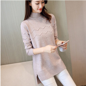 2019 Long Style Pullovers Hot Cashmere Women Winter Turtleneck Sweater Thick Warm Slim Pullover Female