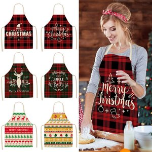 Linen Merry Christmas Apron Christmas Decorations for Home Kitchen Accessories New Year Christmas Gifts GWE2416