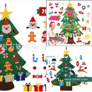 Lewcp New Dreidimensionale Diydiy Filz Weihnachtsbaum Kinder DIY verzierter Filzweihnachtsbaum