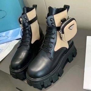 Los diseñadores mujeres Rois botines Martin botas de nylon y de arranque de inspiración militar de combate bouch botas de nylon unido al tobillo con correa de M3