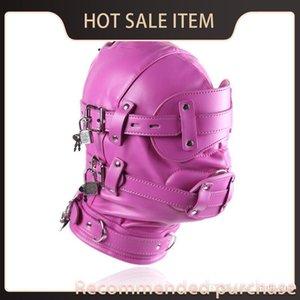Adult Latex Steampunk Fetish Strap-on-dildos Erotic With SM Cosplay Costume Accessories Mask Sexy Headwear Head Headgear PU Lockable Di Vpib