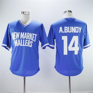 New Market Mallers 14 Al Bundy Beyzbol Jersey Erkekler Kazak Mavi Baz Takım Renk Nefes Nakış Ve Dikiş Saf Pamuk Sıcak Satış Soğuk