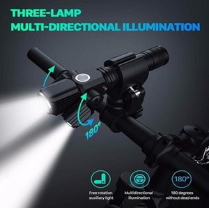500 Lumen Flashlight For Bicycle USB Rechargeable 18650 Battery MTB Mountain Road Bike Front Light Waterproof LED Headlight Cycling Lantern