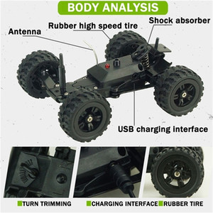 Spielzeug für Jungen Radiogesteuerte Autos Auto Mini Coche RC Autos 1/32 Fast Off Road Buggy Crawler High Speed ​​Car 201218