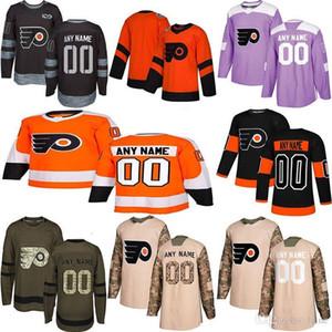 2019 Noticias Philadelphia Flyers hockey jerseys de múltiples estilos para hombre de encargo cualquier nombre cualquier número de los jerseys del hockey