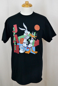 Space Jam T-shirt Looney Tunes Bugs Bunny Daffy Duck Graphic Tee Noir NWT du sport Sweat à capuche à capuche