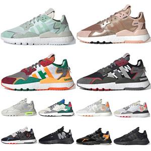 Adidas Nite Jogger erkek kadın 3M için Ayakkabı Koşu 2020 En Moda Nite jogger ICE MINT Rose Gold Dağcılık Beyaz Siyah Koşu Eğitmenler Sneakers Yansıtan