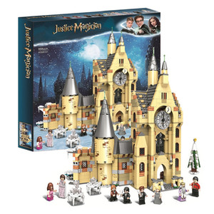 NEW Magic Clock Castle Tower Harried Building Blocks Brick Potter Cartoon Action Figure Toys Brain Game Model Anime Gifts X0102