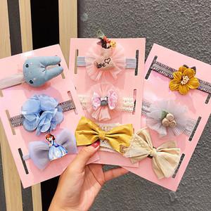 3 pçs / set nova meninas bonitos flor arco elástico headband crianças doces hairband acessórios de cabelo