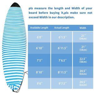Surfboard Носок крышки Настройка Портативный Paddle Board защитная сумка синий и белый