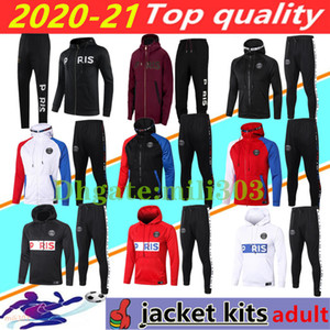 20 21 PSG Sweat à capuche veste tracksuit 2020 2021 Paris survêtement de football champion NEYMAR JR MBAPPE Hoodie survetement 20/21 psg jacket set