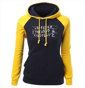 Womens Hoodies Spring Fashion Streetwear Harajuku Brand Kawaii Hoody Print STRANGER THINGS Kpop Sweatshirt Raglan Hoodie