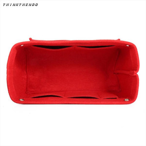 THINKTHENDO Fashion Multifunction Handbag Organizer Purse Insert Bag Felt Fabric Storage Cosmetic Makeup Bag Case Hot New
