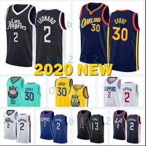 2020 NEW Kawhi 2 Stephen 30 Curry Leonard Paul 13 George Los AngelesClippersStateWarriorsJerseys Golden Basketball