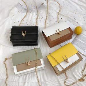 2020 Fashion Women Bags PU Leather Crossbody Evening Clutch Purse Metal Chain Shoulder Strap Small Handbags Tote