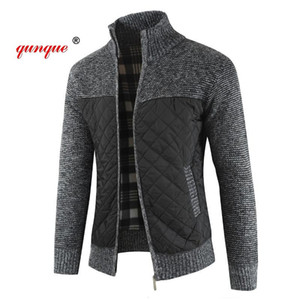 QUNQUE Mountainskin Men's Sweaters Autumn Winter Warm Knitted Sweater Jackets Cardigan Coats Male Clothing Casual Knitwear MY4Q