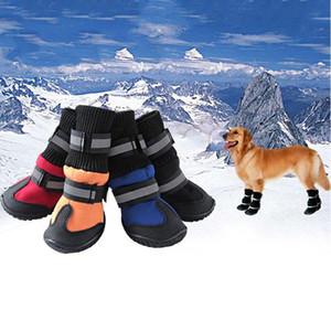 Haustierhundschuhe für Sportberg tragbar für Haustiere PVC-Sohlen wasserdichte reflektierende Hundestiefel perfekt für WMTilb
