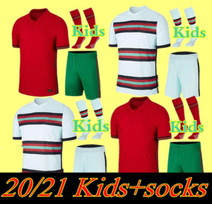 2020 Kit Kit Kit de football Jerseys Joao Felix Home Away Garçons Terrain de football 20 21 Portugal Gardedes Ensembles d'enfants Camisa de Futebol