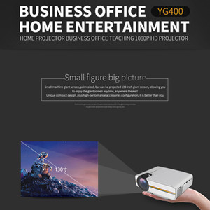 Mini Projector 4k digital Wired Sync screen Display YG400 More stable than WIFI Beamer For Home Theatre Movie AC3 VGA USB