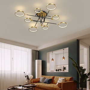 New Modern LED Chandeliers Lamp With Remote Control For Living Dining Room Bedroom Iron Aluminum Lights Dimmable Indoor Lighting