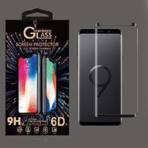 Case Friendly Tempered Glass 3D Curved Phone Screen Protector For Galaxy S9 Plus S8 Note 8 S10 S11 Plus S20 with Retail Box