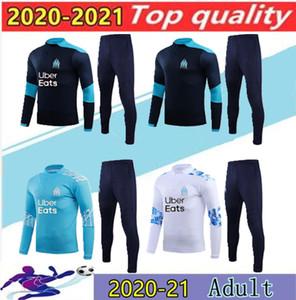 Nuevo 2020 Olympic Marseille chándal de fútbol Correr Fútbol Tops Coat pantalones de entrenamiento deportivo 19 20 21 juego de los hombres de OM fútbol chándal Tamaño