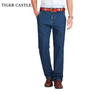 Tiger Castle Spring Мужчины Джинсы Небольшие классические Джинсовые Брюки Мужчины Смешивают Bowgy Blue Designer Джинсы Человек Повседневная Для мужчин