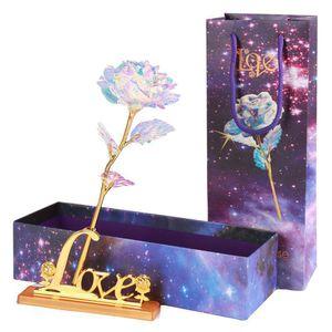 الذهب احباط مطلي ارتفع وامض روز مضيئة زهرة الذهبي روز الزفاف ديكور عيد ميلاد الأم عيد الحب صناديق هدية