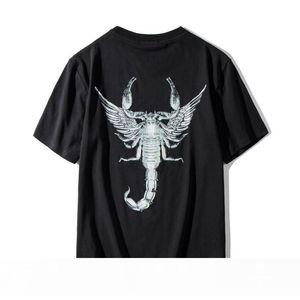 Famous Mens T Shirts Summer Scorpion Printing High Quality Cotton Couples Short Sleeves Men Women T Shirt Size S-2XL