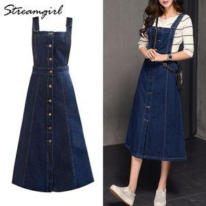 Saia Denim Mulheres Longas Jeans Strapped Saias Womens Plus Size Summer Saias Mulheres Long Jeans Saia Com Correias J0118