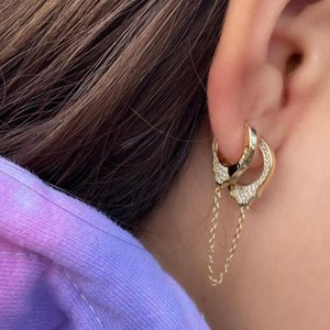 Cuff mão algema brincos de prata esterlina 925 moda jóias Mulheres Dangle podem ser abertas delicados brincos direto