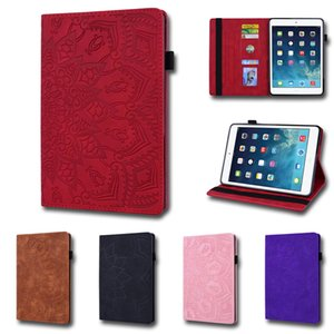 Calfskin Texture Shockproof Tablet Case for Apple iPad Pro 9.7 Samsung Galaxy Tab A T290 Multi Card Slots Flip Stand Protective Covers