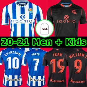 TOP Real Sociedad 2020 21 Футбольные майки DAVID SILVA OYARZABAL LOPEZ PORTU camiseta de futboliversary Hombres Niños Комплект для взрослых Футболки